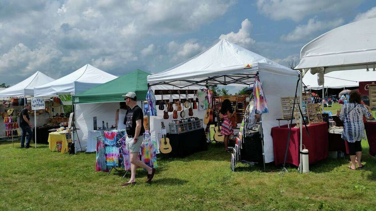 The Litchfield Jazz Festival was in full swing in 2018, providing guests with shopping, food and a chance to hear live jazz outdoors at the Goshen Fairgrounds.