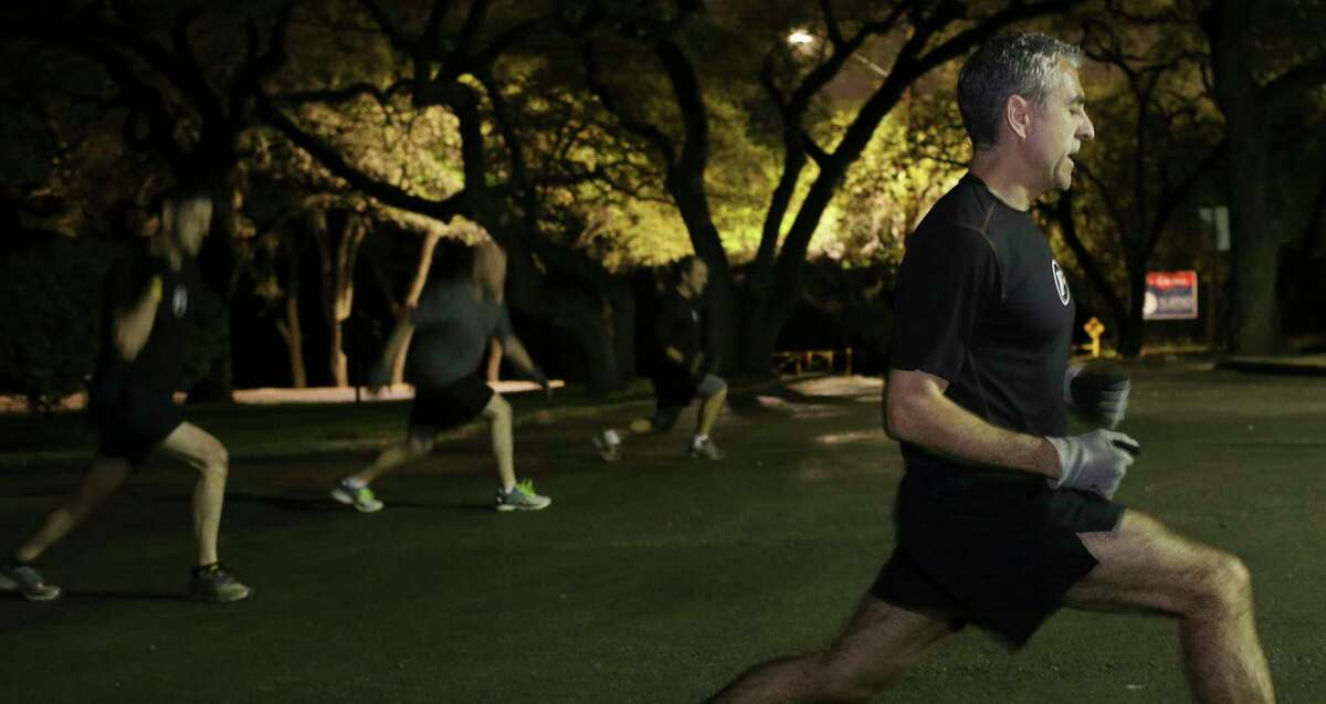 Francisco Robelo leads an F3 boot camp workout in San Antonio in 2017. The nationwide network, which organizes free weekly workouts for men, is coming to New Braunfels starting this week.