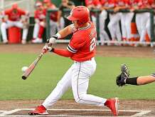 Lamar senior Cole Girouard takes a swing during last weekend's home series against New Orleans.