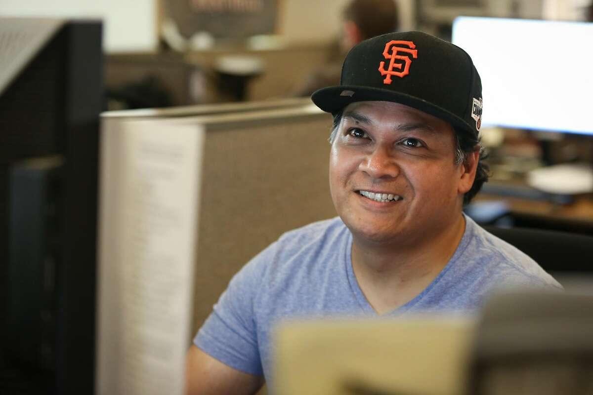 Jason Lloren at the San Francisco Chronicle newsroom on Tuesday, April 29, 2015.