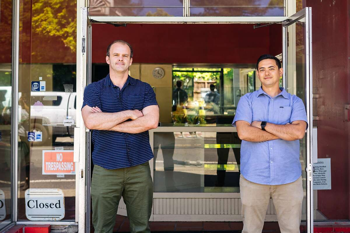 Paul Brown (left) of Paulie's Bagels and Alex Macaraig are opening a bagel shop and cafe in Napa this fall.