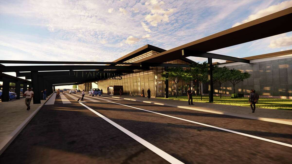 A rendering of what the new terminal at Tweed New Haven Regional Airport could look like.