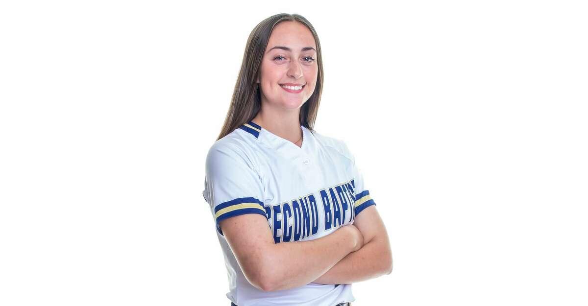 Second Baptist softball player Rachel Riley.