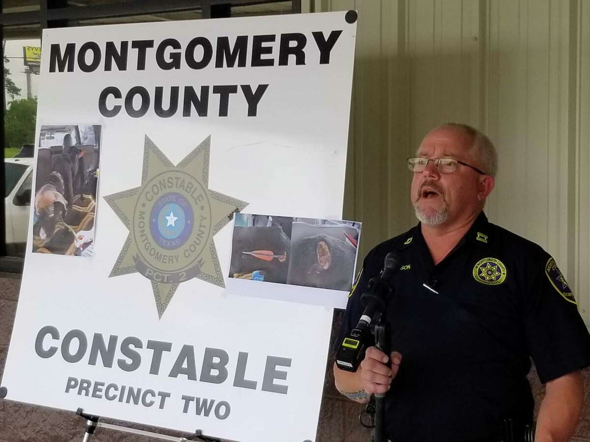 Montgomery County Precinct 2 Constable's Cpt. Greg Thomason will head up a unit dedicated to investigating animal cruelty cases like Zorro, a stray dog who was shot with arrows.