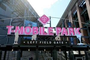 SEATTLE, WA - MARCH 26: A detailed view of T-Mobile Park as the Seattle Mariners take on the San Diego Padres during their spring training game at T-Mobile Park on March 26, 2019 in Seattle, Washington. (Photo by Abbie Parr/Getty Images)