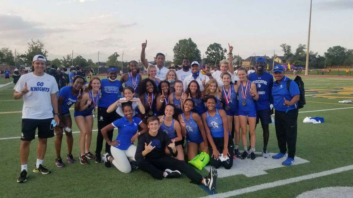 The Episcopal girls track and field team won the SPC Championship with a total of 152.5 points, led by gold medals from its 400-meter relay, junior Kat Kwiatkowski and freshman Townsen Thomas.