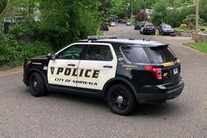 Police on the scene at Chatham Drive in Norwalk on Sunday, May 16.