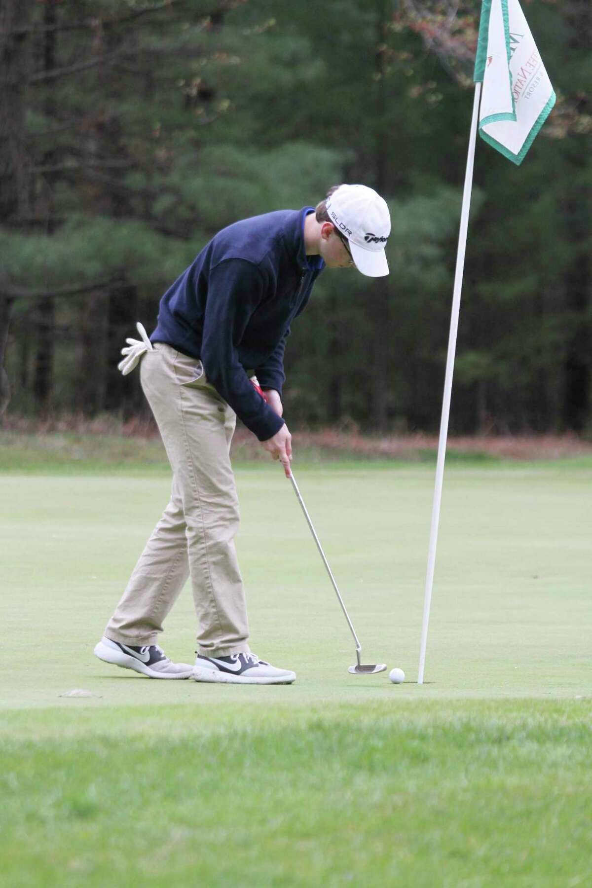 Brendan McComb and the Manistee Catholic Central golf team won the West Michigan D League championship Monday at Crystal Lake Golf Club. (News Advocate file photo)