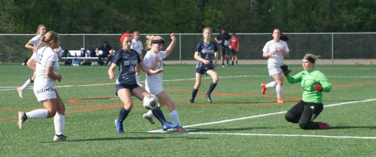 The Big Rapids girls' soccer team defeated Lakeview 8-0 on Monday night.