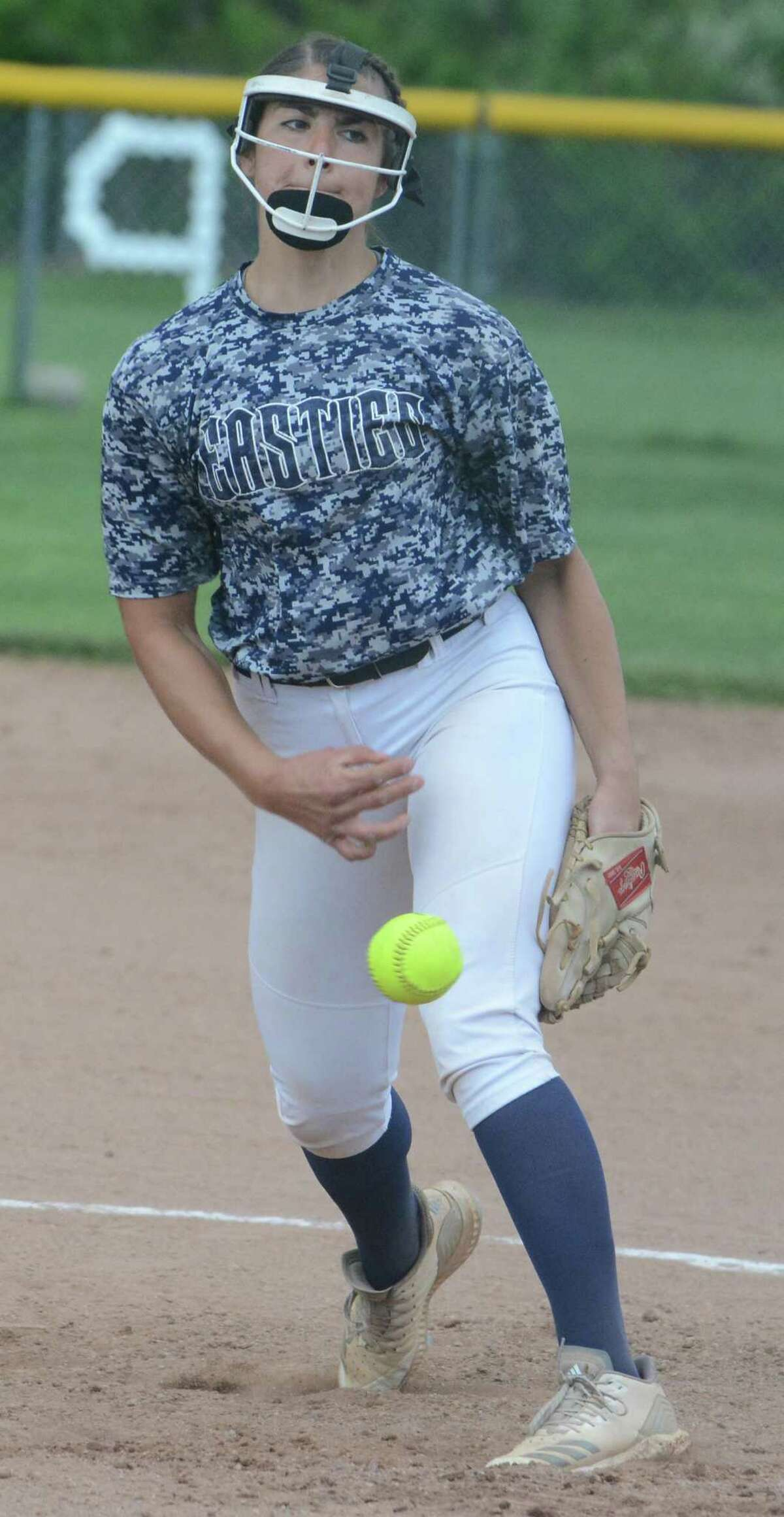 East Haven pitcher Tori Heaphy delivers against Mercy on Monday.