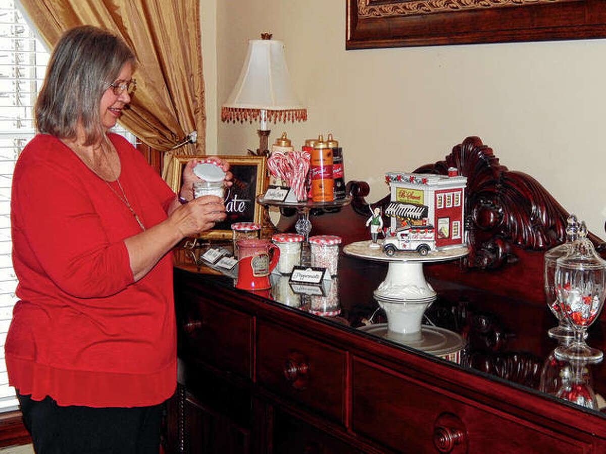 Gwen Eyer of Blessings on State Bed & Breakfast enjoys her hot chocolate bar in February.