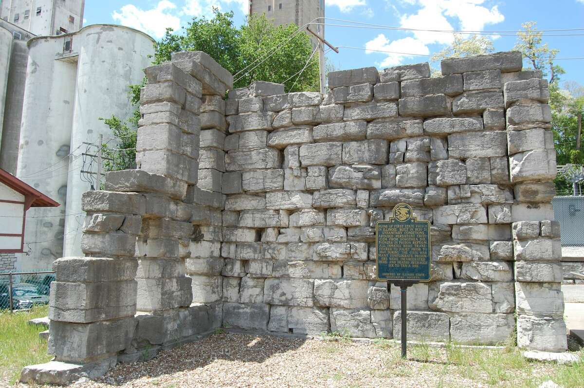 The remains of the Alton Military Prison stand along William Street of downtown Alton.
