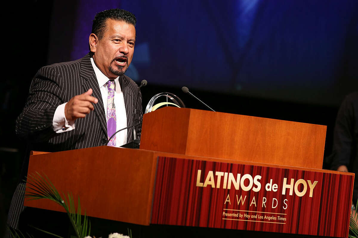 LOS ANGELES, CA - OCTOBER 11: PepsiCo executive Richard Montanez accepts the Inspiration Award onstage at the '2014 Latinos De Hoy Awards' presented by Hoy & Los Angeles Times at Los Angeles Times Chandler Auditorium on October 11, 2014 in Los Angeles, California. (Photo by Imeh Akpanudosen/Getty Images for Los Angeles Times)