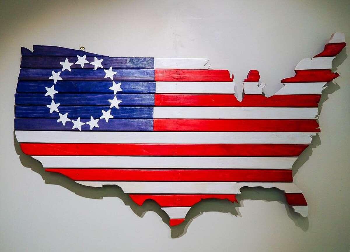 USA Shaped Flag