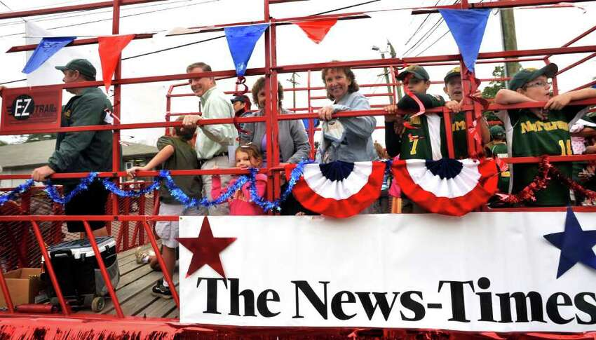 The NewsTimes float in the NewsTimes Parade in Danbury, Sunday, Sept. 12, 2010.
