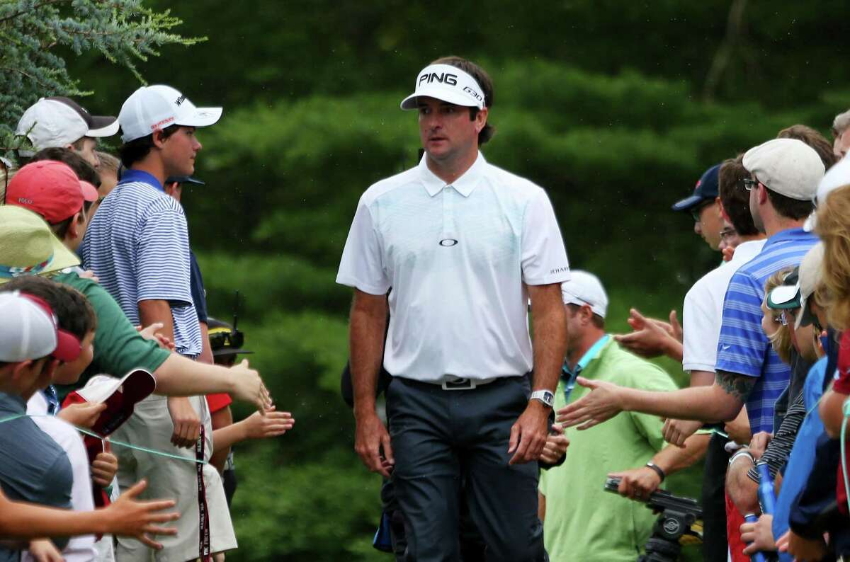 Fans greet Bubba Watson during the third round of the Travelers Championship at TPC River Highlands in 2015 in Cromwell.