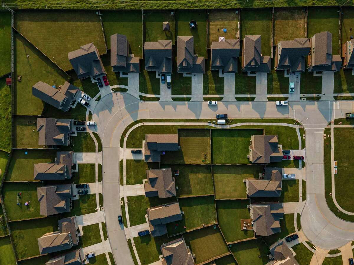 The Bay Colony Pointe West neighborhood built by Houston-based Wan Bridge in League City. The neighborhood's houses are available exclusively as rentals. Houston-area single-family home rents were 5.2 percent higher this March than they were a year before.