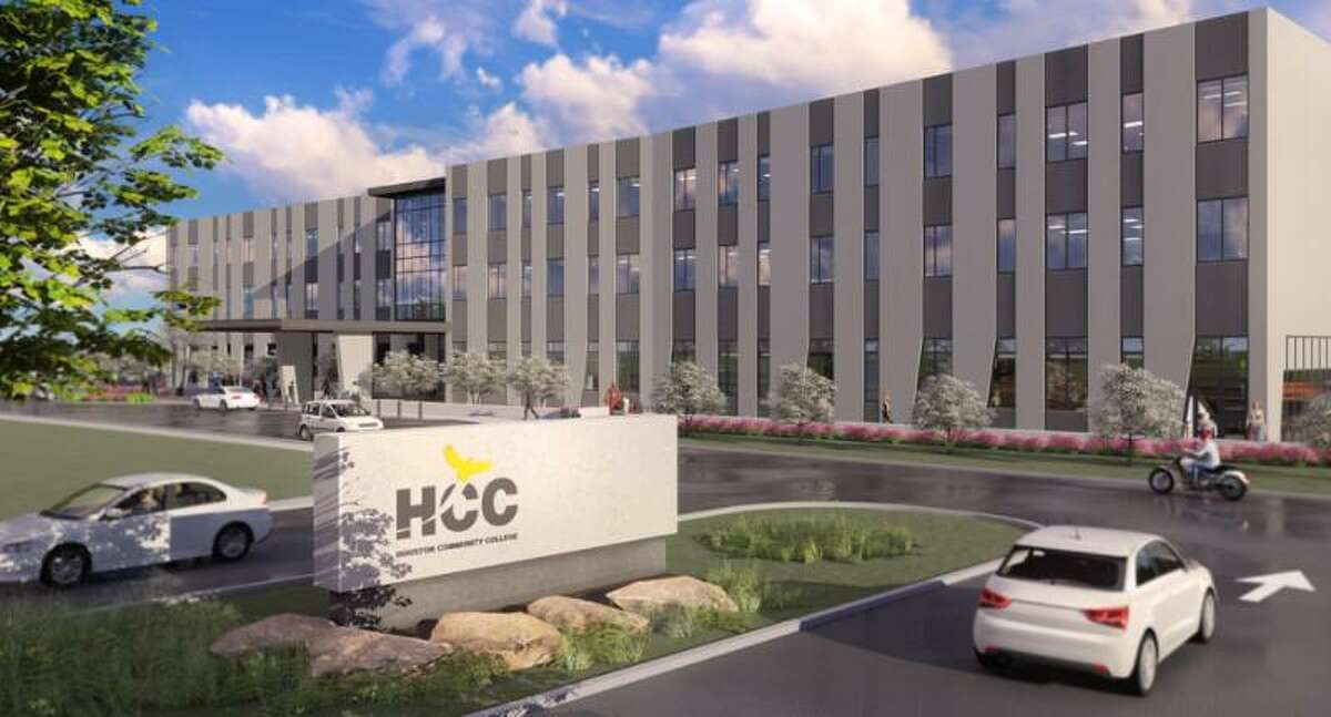 This artist rendering shows what the new HCC- Katy campus will look like when it opens in May 2022.