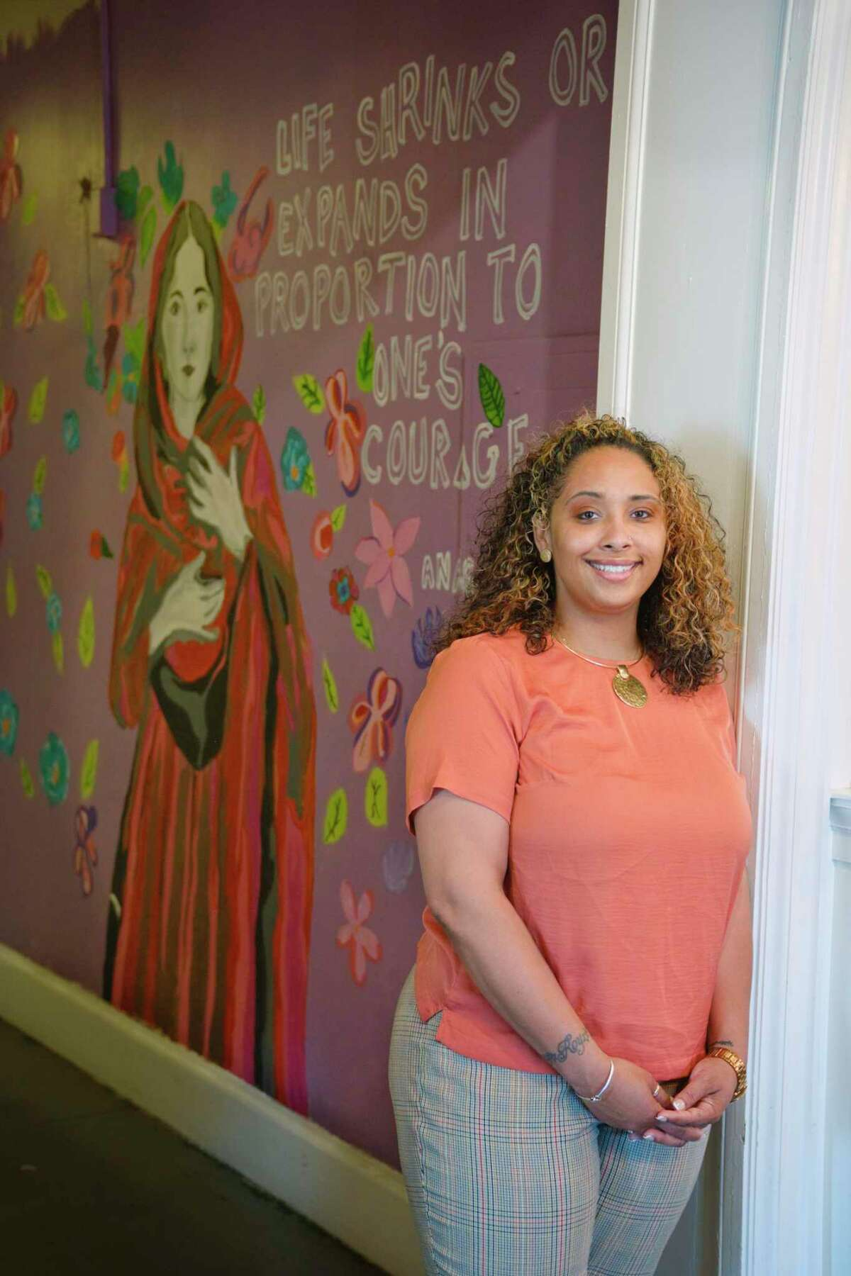 Starletta Smith, executive director of the YWCA of the Greater Capital Region, poses for a photo at the YWCA on Monday, March 22, 2021, in Troy, N.Y. (Paul Buckowski/Times Union)