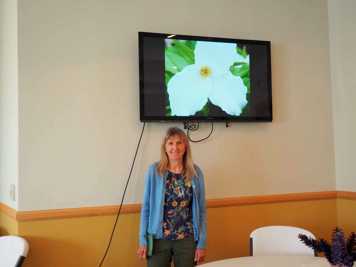 Paula Dreeszen, volunteer preserve stewardwith Grand Traverse Regional Land Conservancy,was the guest speaker at the Spirit of the Woods Garden Club, Inc. meeting on May 10. (Courtesy photo)