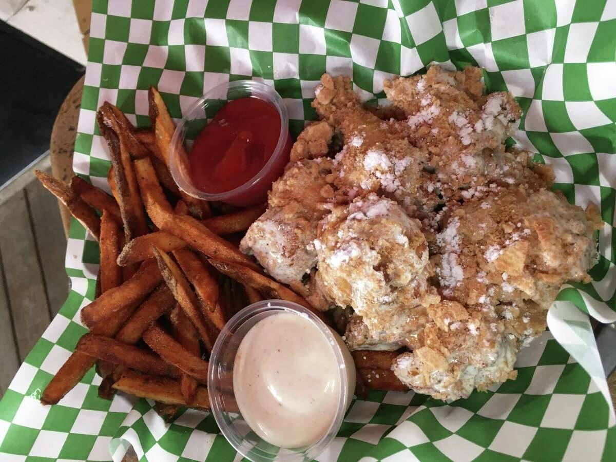 The Cinnamon Toast Crunch chicken wings at The Hardcore Kitchen are $10 for an order of six wings served with a side of handcut fries.