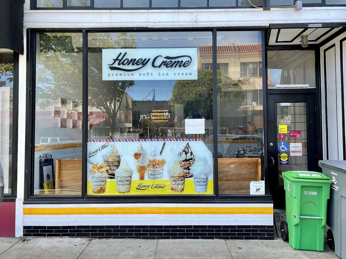 Honey Creme, a soft serve and boba shop at 839 Irving St. in the Inner Sunset, closed this spring.