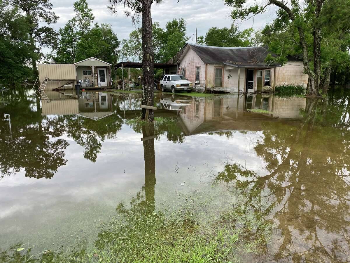 Fannett is seeing quite a bit of flooding just one day into the week-long storm.