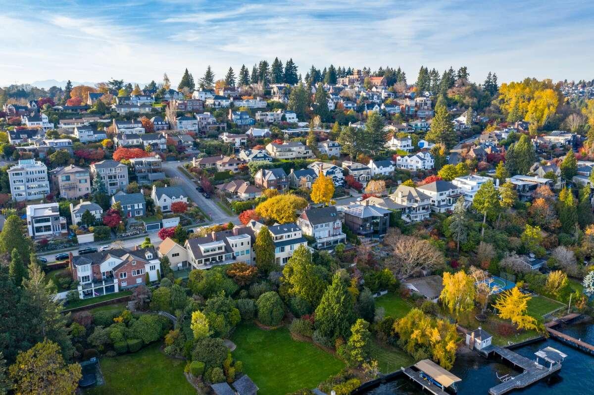 A neighborhood along Lake Washington in Seattle.
