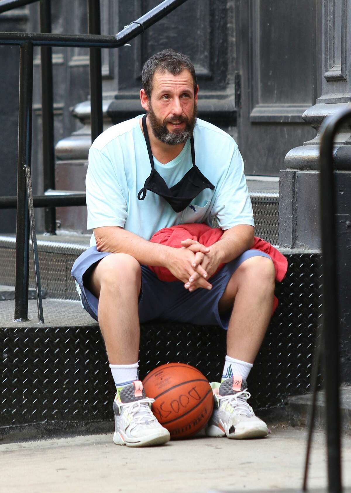 MANHATTAN, NY - MAY 2: Adan Sandler is seen on May 2, 2021 in Manhattan, New York. (Photo by LRNYC/MEGA/GC Images)