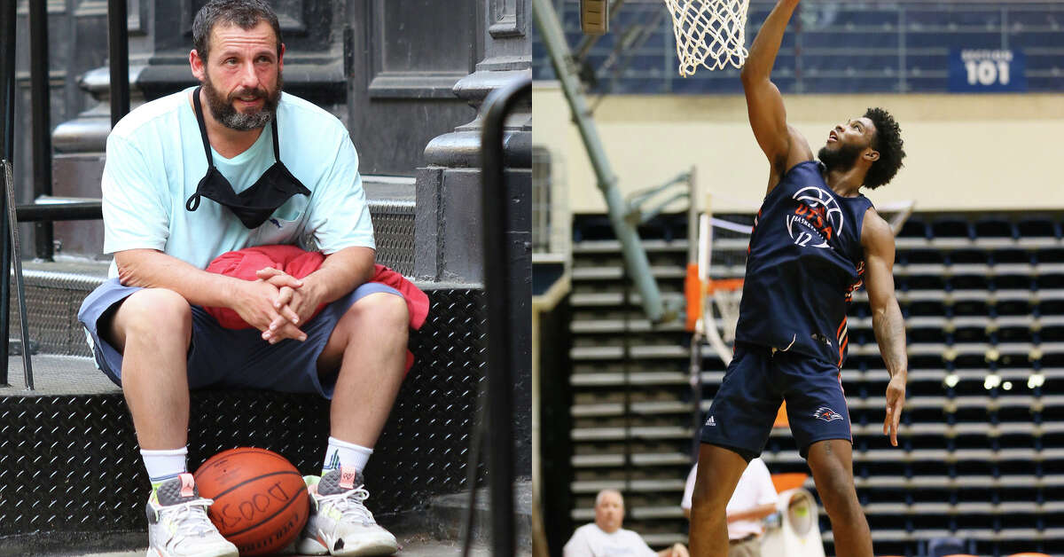 A UTSA student had the chance to play a game of pickup basketball with actor Adam Sandler on Monday.