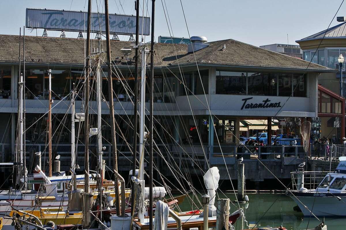 Tarantino's is seen through the masts of fishing boats in San Francisco, Calif. on Friday, Nov. 1, 2013.