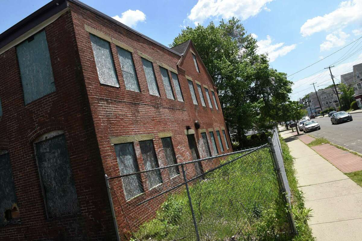 A vacant building at 291 Campbell Ave. in West Haven photographed on May 18, 2021.