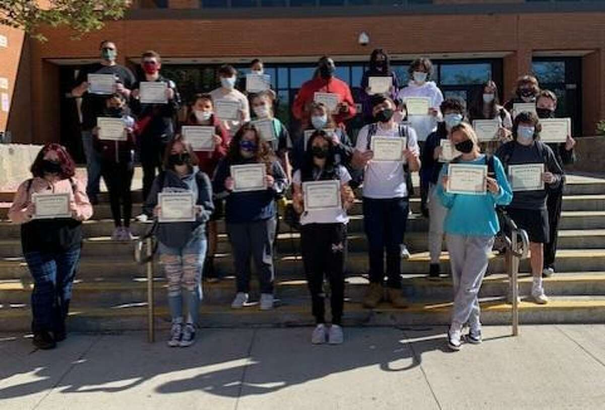 Shelton High School recently named its students for the month of April, 2021.