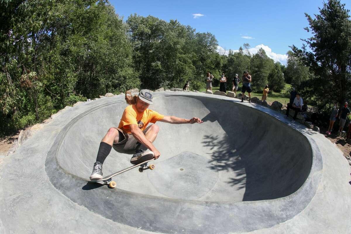 A skateboarder at Hudson Valley's Art Omi sculpture park.Chemi Rosado-Seijo,