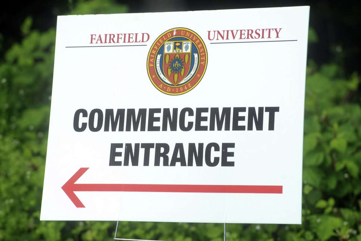 Commencement for the Charles F. Dolan School of Business, one of several in-person graduations ceremonies the Fairfield University is holding this week in Fairfield, Conn., May 18, 2021.