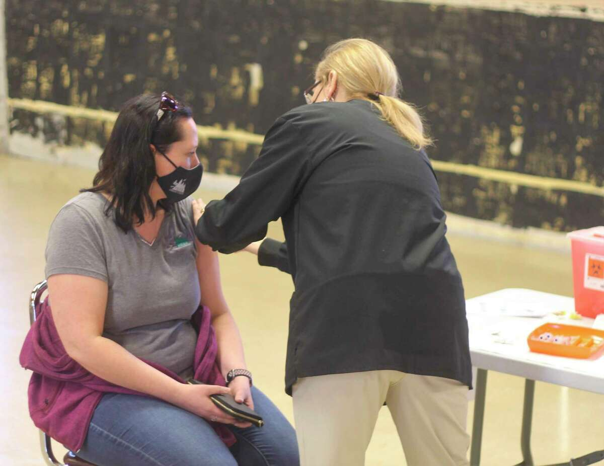 About half of the eligible population of Manistee County has been vaccinated, according to data from the Michigan Department of Health and Human Services. (File photo)