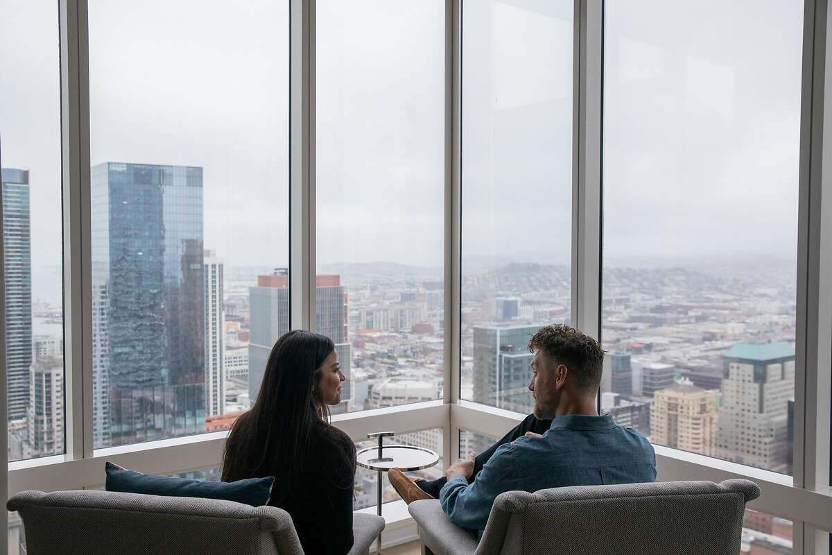 From left: Alexis Pence and Hunter Pence at their home, Friday, May 14, 2021, in San Francisco, Calif. Hunter, a former baseball star with the San Francisco Giants, and his spouse Alexis, a coffee entrepreneur, are opening a new coffee shop.