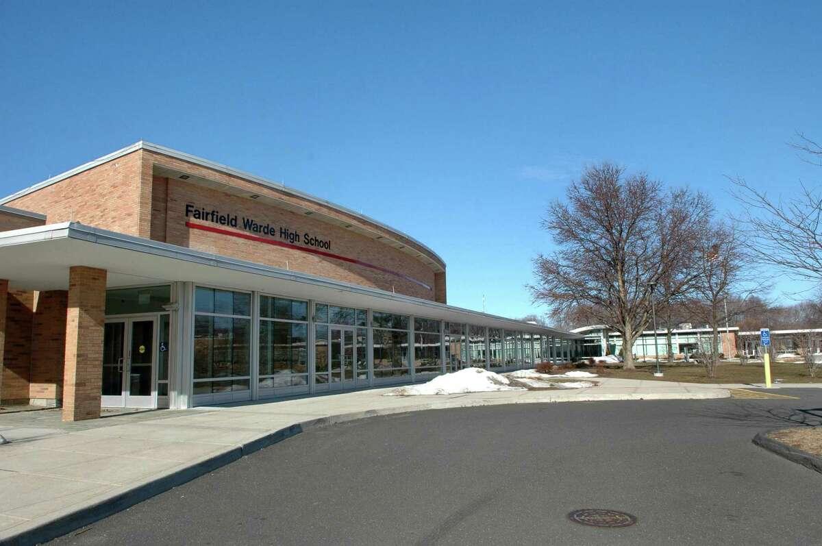 Exterior shot of Fairfield Warde High School