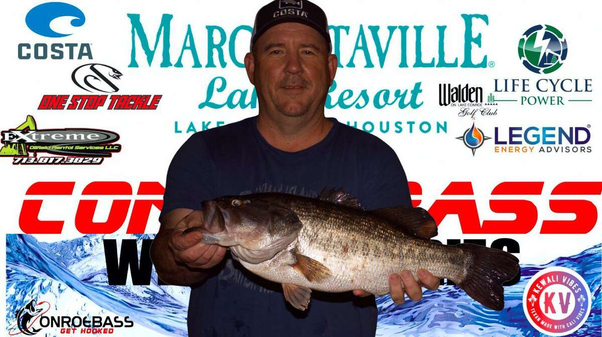 Keith Scoggin came in first place in the CONROEBASS Thursday Big Bass Tournament with a weight of 6.02 pounds.