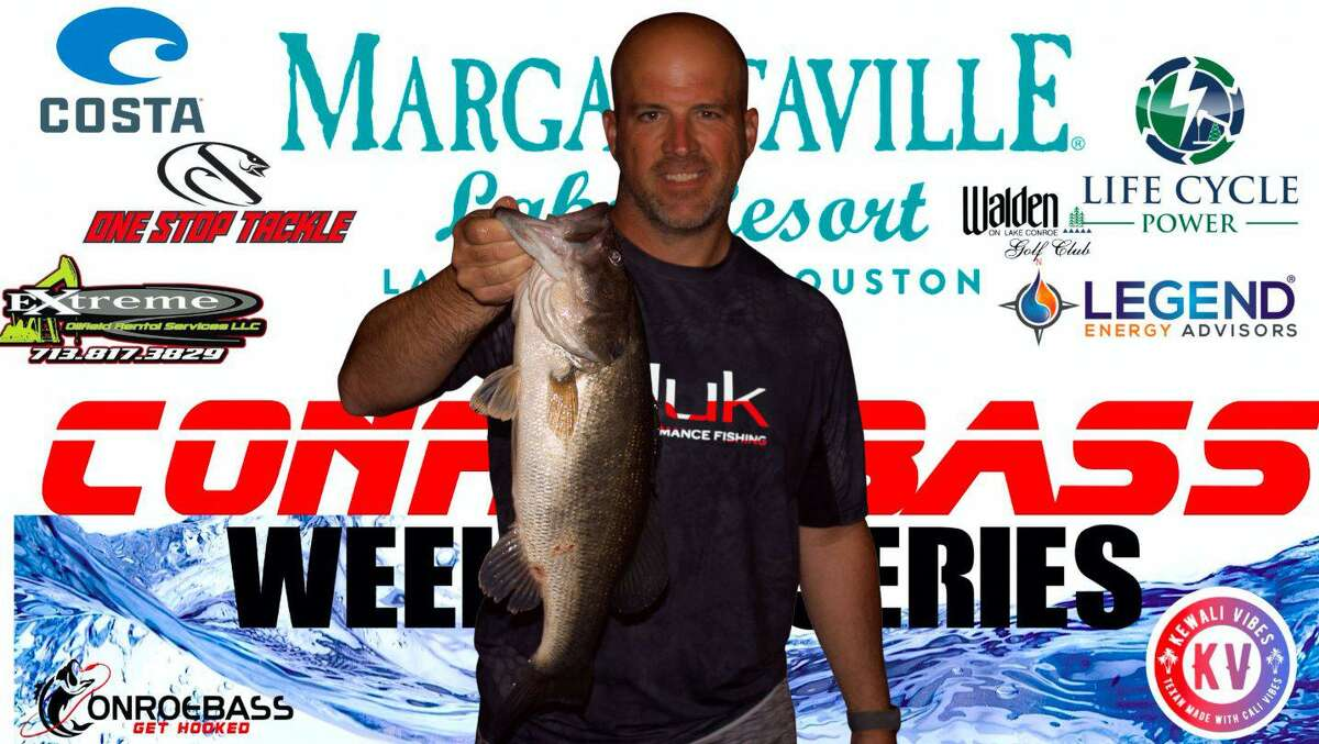 Wes Raska came in second place in the CONROEBASS Thursday Big Bass Tournament with a weight of 4.85 pounds.