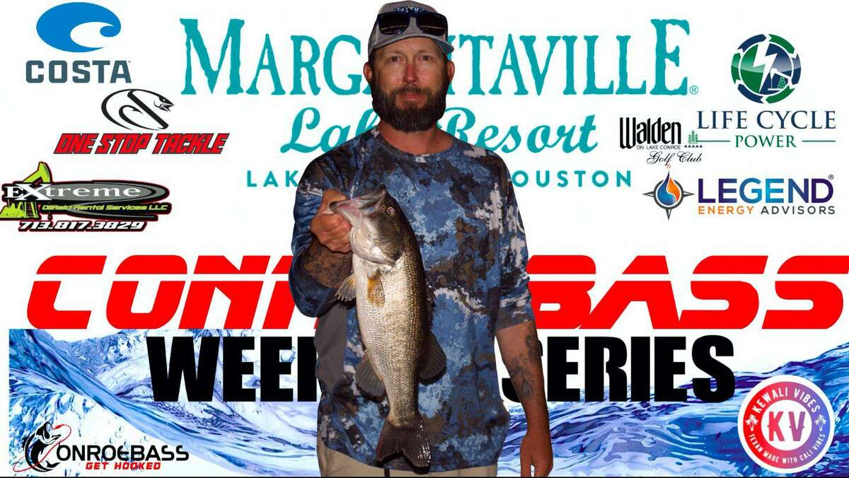 Michael Haworth came in third place in the CONROEBASS Thursday Big Bass Tournament with a weight of 4.01 pounds.