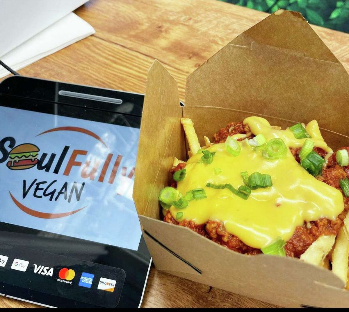 Middletown's SoulFully Vegan food truck uses Beyond Meat to make its spicy PB&J burger, chili cheese hot dogs, and chili cheese fries.
