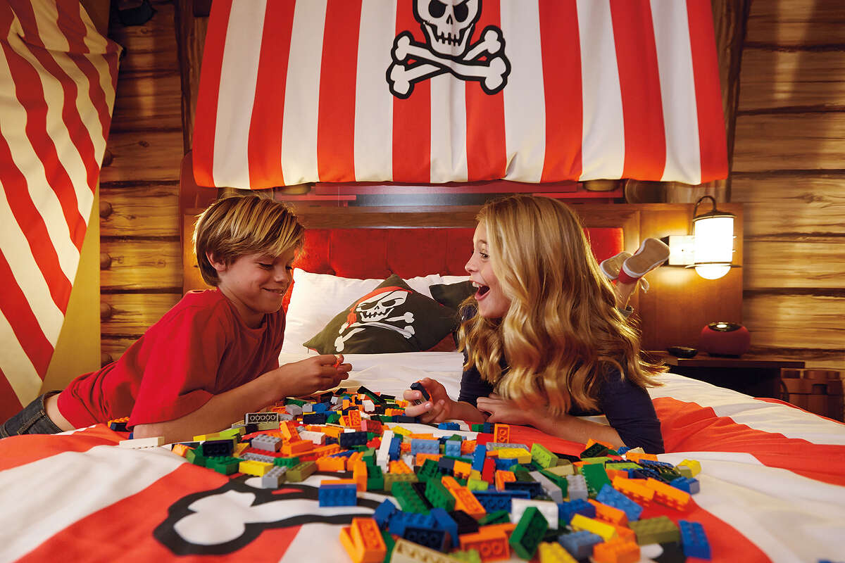 The Legoland New York Resort's official grand opening is set for August 6. Its 250 rooms are themed in four stylesand come equipped with Lego bricks and models. Already the hotel is nearly fully booked for August but there are other hotels and Airbnbs nearby.