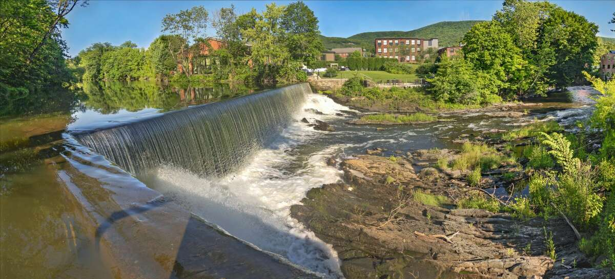 A dam over Fishkill Creek in Beacon. The mid-Hudson Valley city's architectural landscape very much reflects its former manufacturing glory