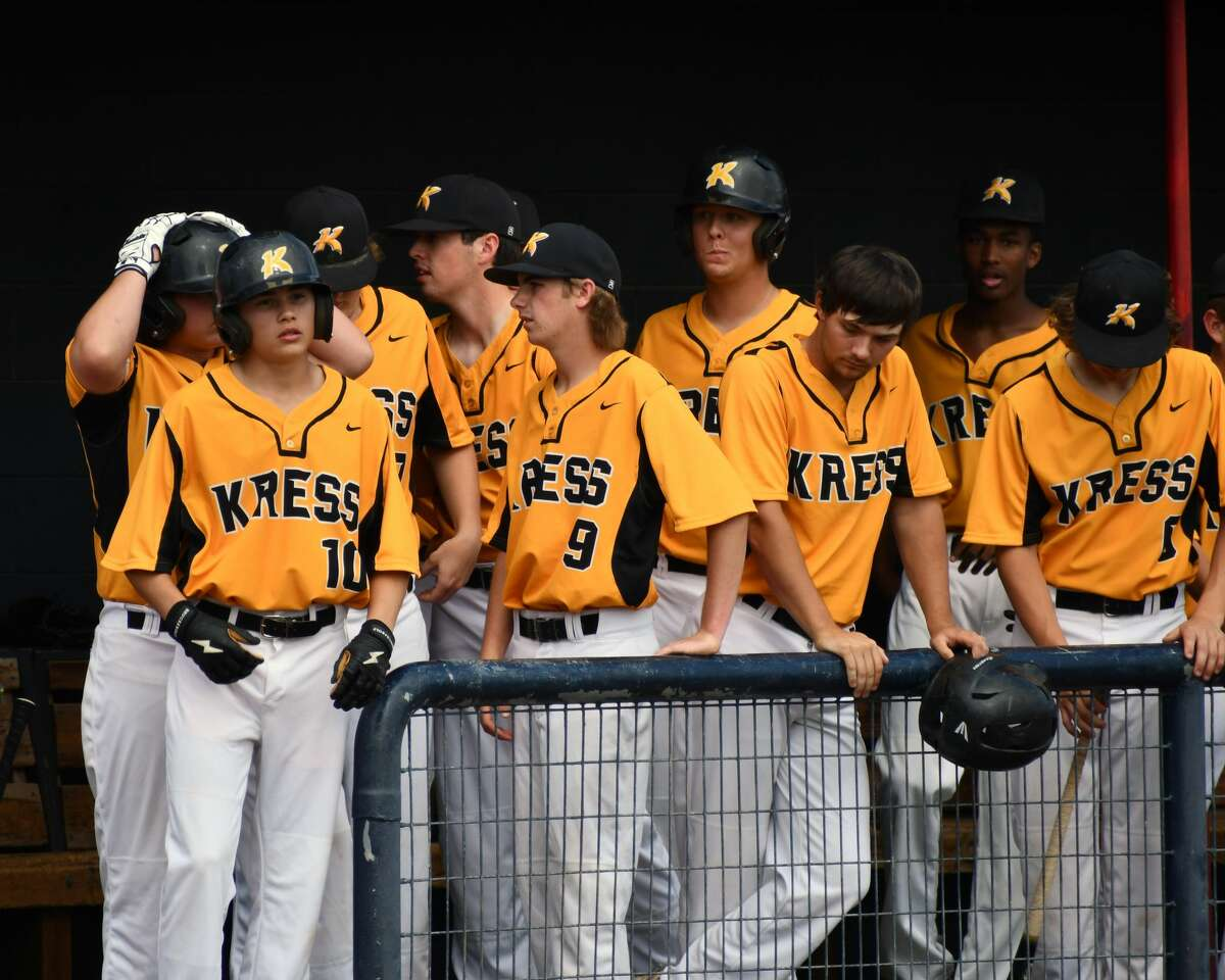 Nazareth defeated Kress 8-1 in the Region 1-1A semifinals of the UIL baseball playoffs on Tuesday at Bulldog Park in Plainview.