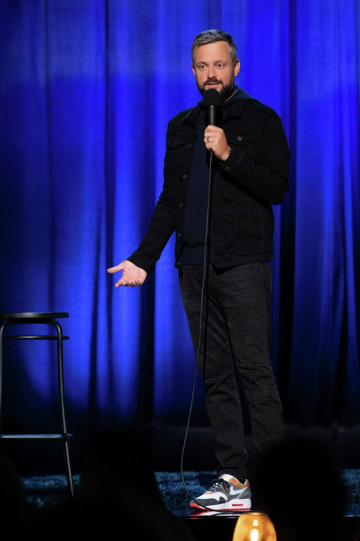 Comedian Nate Bargatze's show at the Warner Theatre has been rescheduled for Sept. 18.