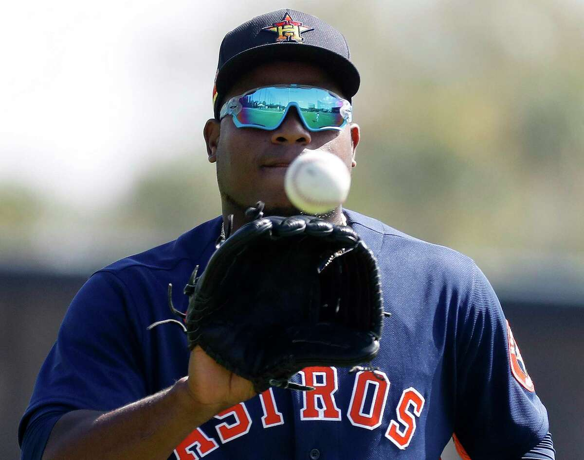 The Astros say lefthander Framber Valdez's rehab from a broken finger has gone more quickly than expected.