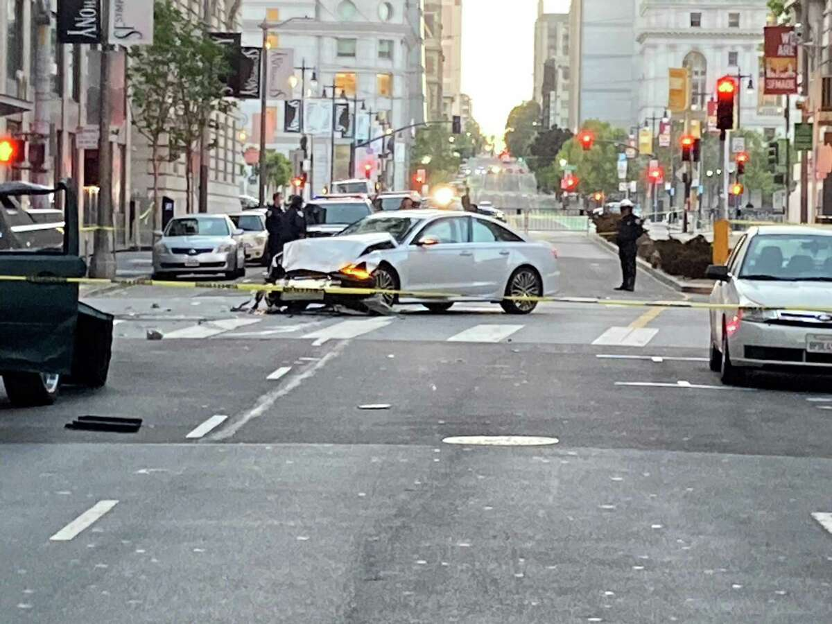 One person was killed in a car crash in San Francisco on Tuesday, May 18, 2021.
