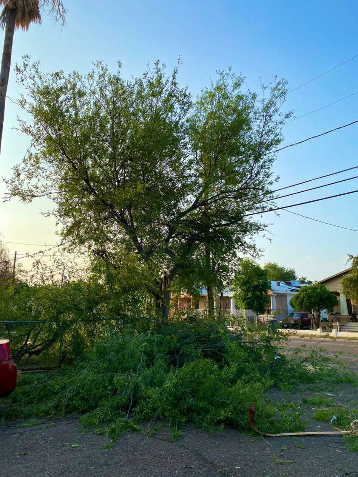 These are the storm damages reported in west Laredo.