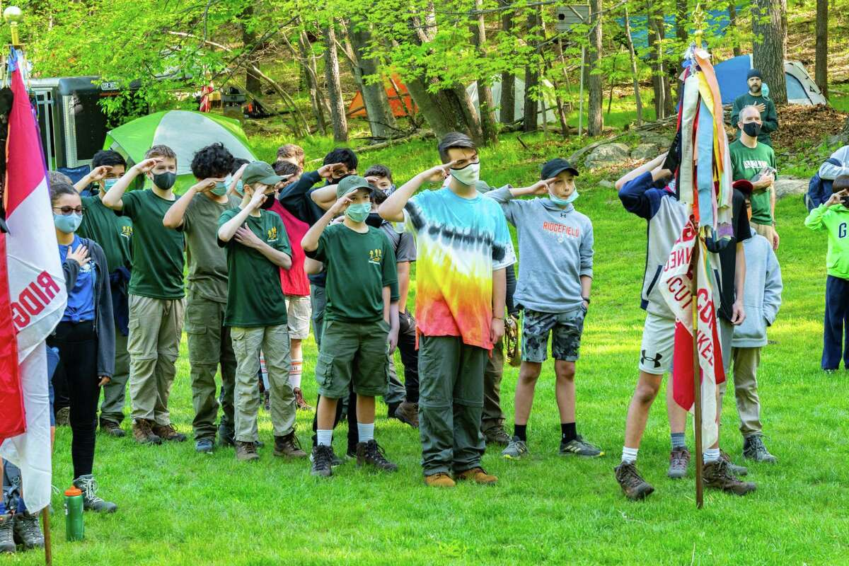 Roughly 85 Boy Scouts attended the 21st annual BSA Ridgefield Camporee at Sturges Park from May 14-16 for a fun-filled weekend full of camping, outdoor cooking and community service activities.